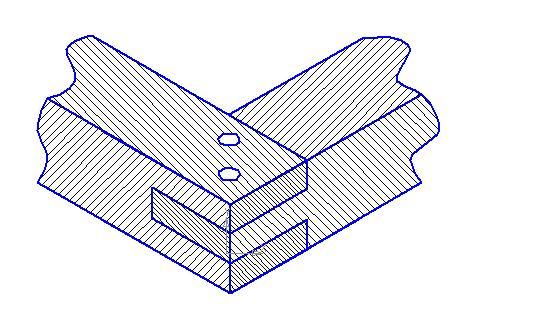 Конструкция крыши дома: соединение в шип